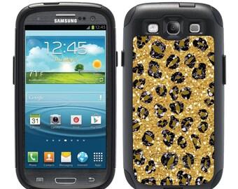 Custom OTTERBOX Commuter Samsung Galaxy S7, S6, S6 Edge, S5, S4, Note 5, 4, 3 Phone Case Cover Glitter Cheetah Leopard Spots Monogrammed