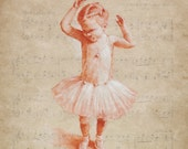 Luxurious quality ballet sugar plum fairy music birthday card by Pastel Artist, Robert Antell