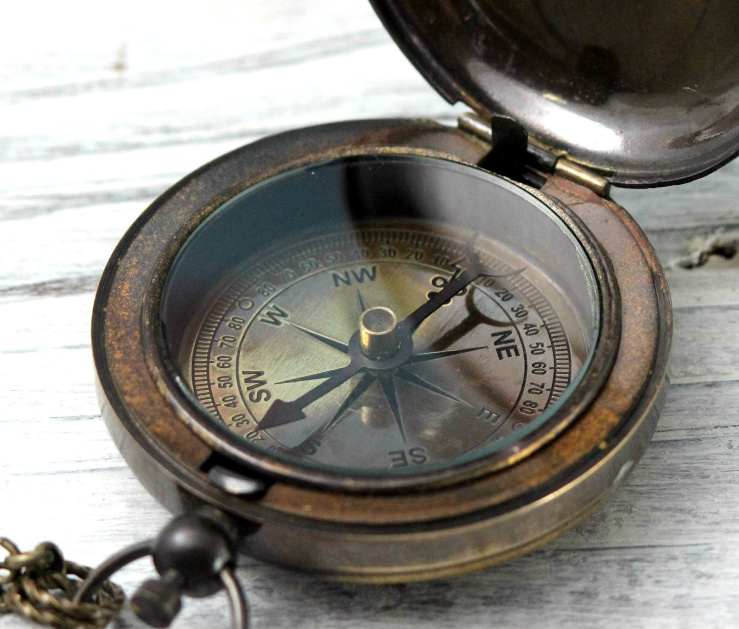 Compass Antique Finish Reproduced Ship by CoughingCowNChicken