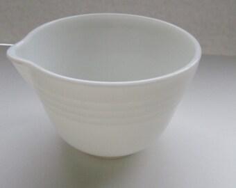 SALE, SALE, SALE!  Vintage Milk Glass Mixing Bowl with Spout--White Milk Glass