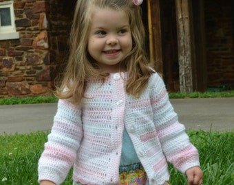 Shades of Pink Cardigan Sweater for Girls size 18-24 months