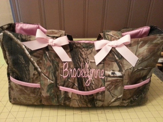 diaper bag camouflage realtree white pink camo sale custom