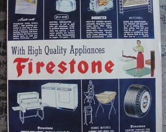Firestone Ad original copyright 1954