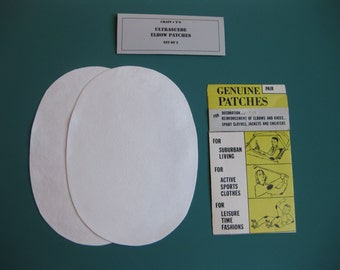 Elbow Patches - White Ultrasuede - Set of 2