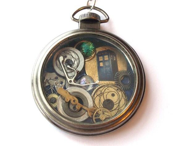 Doctor who pocket watch necklace vortex refraction for Vortix watches