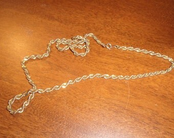 vintage necklace goldtone chain rope