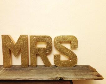 "12"" Glitter MRS Sign"
