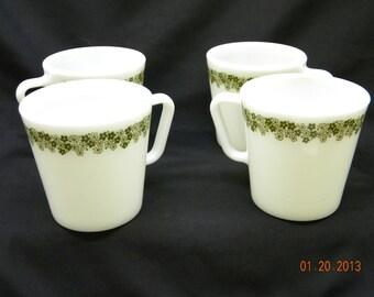 Pyrex CrAzY DaiSy Coffee MugS,  set of 4