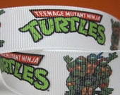 7/8 Teenage Mutant Ninja Turtles grosgrain ribbon