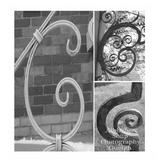 Letter c capital letter wrought iron with by wordjumblephotos for Wrought iron letters script