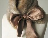 Neck Warmer/ Faux Fur Collar/ Scarf/ -- foxy brown