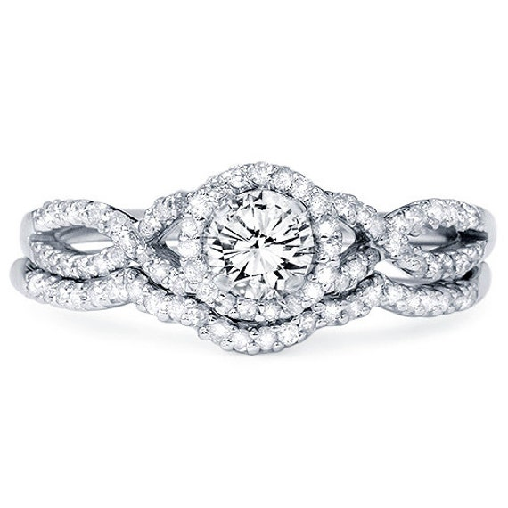 Diamond 70CT Infinity Engagement Ring Wedding Band Set