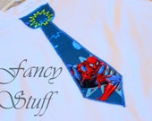 Spiderman tie shirt for adults and children- Fathers Day gift, Birthday gift.