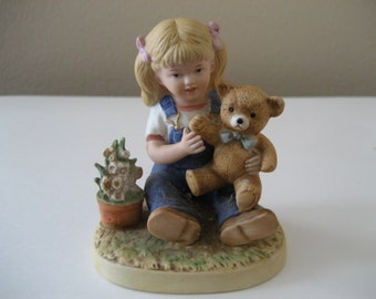 Vintage Homco Denim Days Girl Figurine 1504