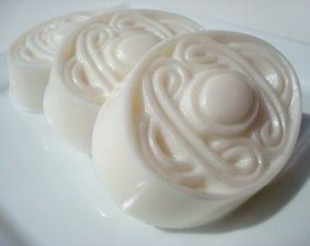 Fairy Tale Soap, Sparkling White Soap, Celtic Oval Knot Soap, Bar Soap, Homemade Soap, Pretty Soap, Princess Soap -  Homemade Soap