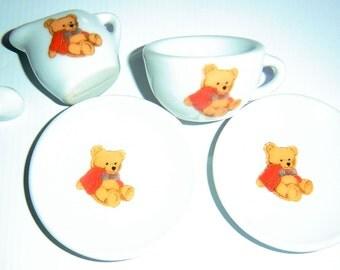 Vintage Miniature Tea Set For Dolls and Teddy Bears