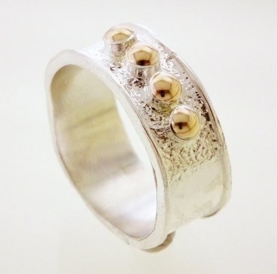 Items Similar To Sterling Silver And Gold Filled Ring. Birthday Gift For Sister Wife Girlfriend