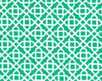 SALE  -  Jennifer Paganelli - Laminated Fabric -  Green OCJP04