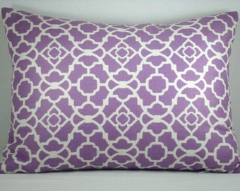 Waverly Lovely Lattice Pillow Modern Designer Accent Lumbar PillowCover 12X17