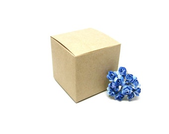 Eco Friendly 3x3x3 Natural Brown Kraft Gift Box, Favor Box - Set of 25