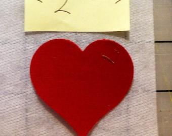 """2"""" Fusible Die Cut Appliqué Hearts"""