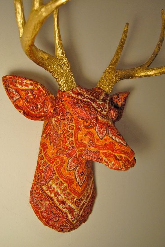 Faux Taxidermy The Bali Deer Wall Mount Faux Fabric Deer