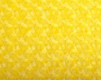 Rose Cuddle Minky from Shannon Fabrics - Canary