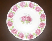 "Vintage Pink Rose Plate 8"""