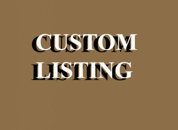 This is a CUSTOM LISTING for Julio Rojas