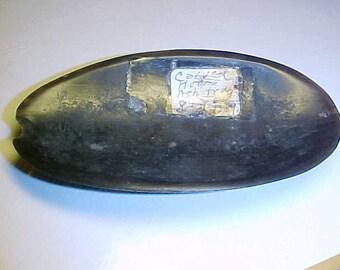 "Carved Horn Ashtray  vintage 4x2"""