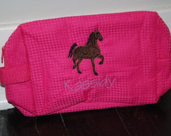 Personalized, Embroidered Cosmetic Bag...Horse Patterns