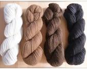 100 g pure wool Baby Alpaca Yarn in natural hues
