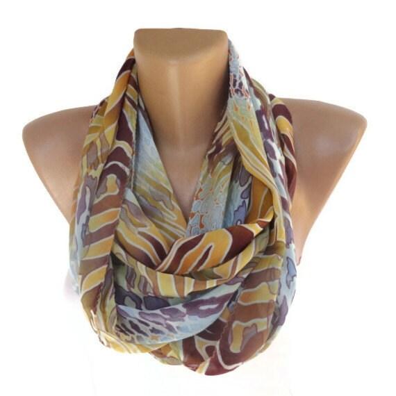 infinity scarf fashion scarves loop scarf chiffon