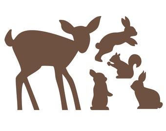 Baby Deer & Bunnies wall decals