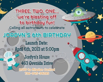 OUTER SPACE invitation - YOU Print