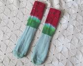 Tie dye socks for women or children- Watermelon Whimzy, 600
