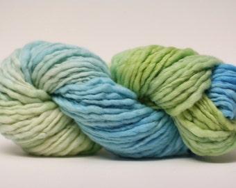 Thick and Thin Merino Yarn Slub Hand Dyed tts(tm) 44tts13032 Stripey 22
