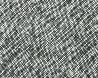 Half Yard Architextures Crosshatch in Black, Carolyn Friedlander, Robert Kaufman Fabrics, 100% Cotton Fabric, AFR-13503-2 BLACK