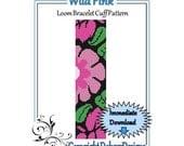Bead Pattern Loom(Bracelet Cuff)-Wild Pink