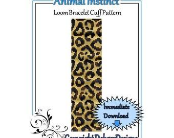 Bead Pattern Loom(Bracelet Cuff)-Animal Instinct