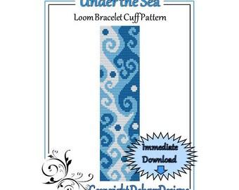Bead Pattern Loom(Bracelet Cuff)-Under the Sea