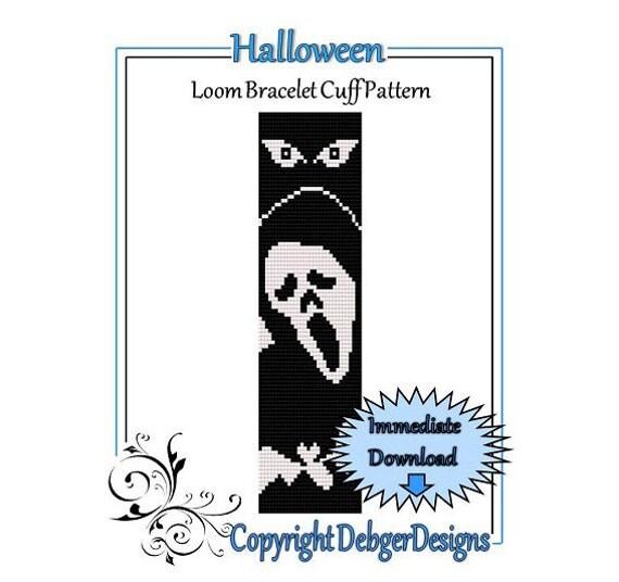Bead Pattern Loom(Bracelet Cuff)-Halloween