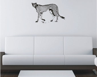 Cheetah Vinyl Decal, Wall Sticker, Wall Tattoo, Wall art