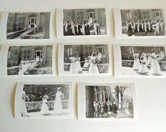 8 Vintage Photos Black and White Photographs Graduation 1940's    Lot A1