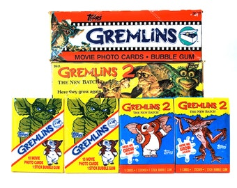 4 Gremlins Sticker & Picture Card Packs by Topps