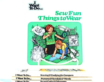 I Want To Do... Kids Book Collection 6 Books Sewing, Projects, & Secret Codes