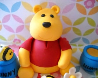 Winnie the Pooh Inspired Cake Topper