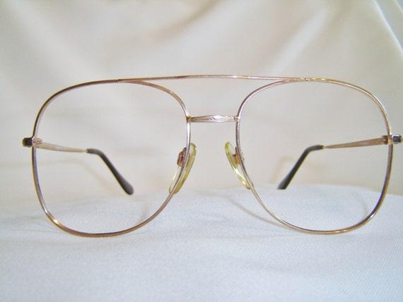Vintage 80S Mens Designer Eyeglasses Large
