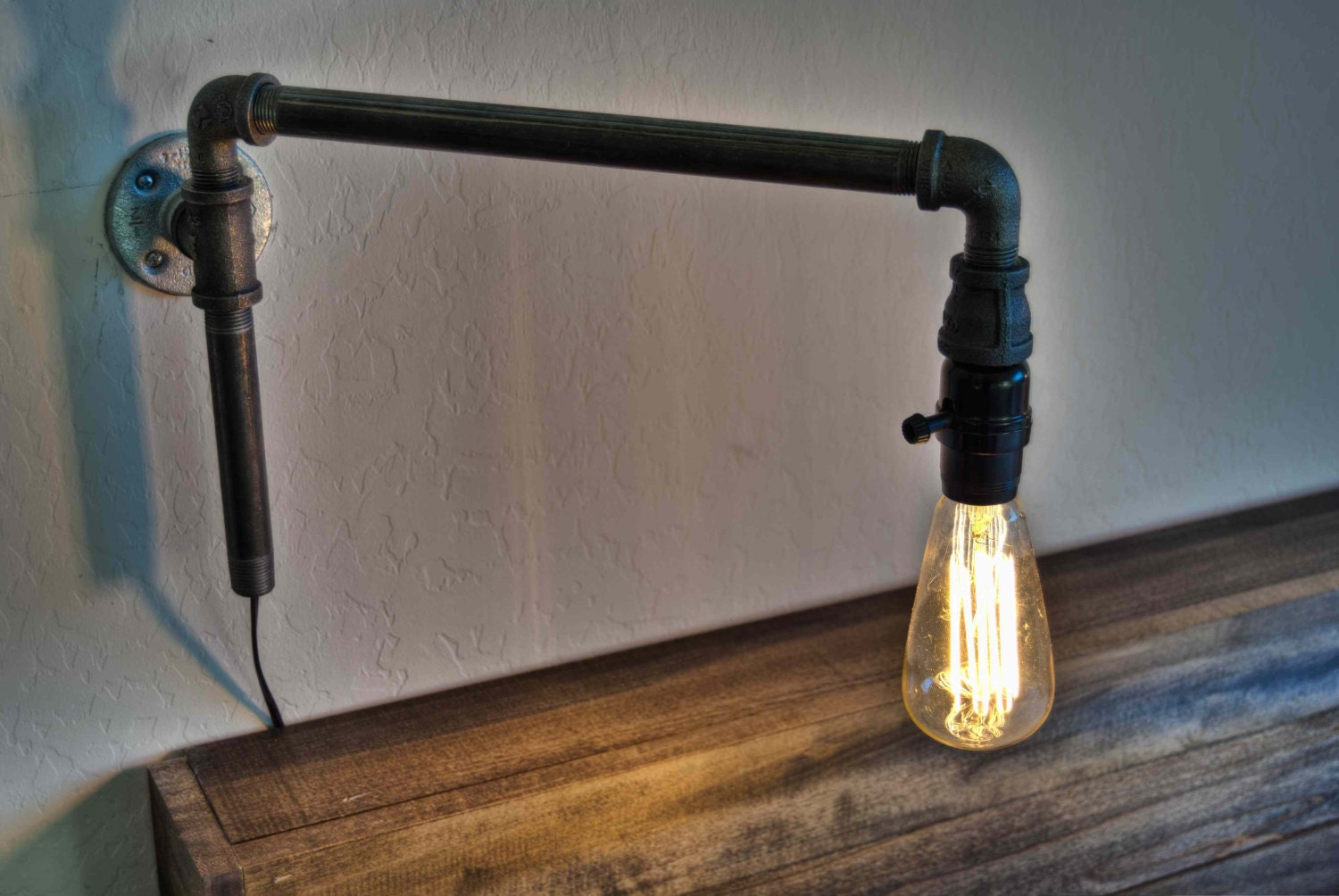 Steampunk Wall Lamp Iron Lighting By Elizabethlyonsdesign