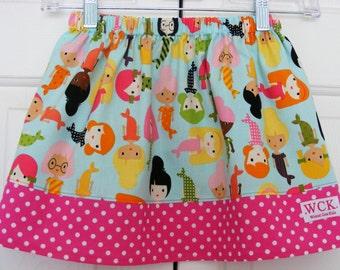 Mermaid Girl Friends  Skirt ( 18 mos, 24 mos, 2T, 3T, 4T, 5, 6, 7, 8, 10)